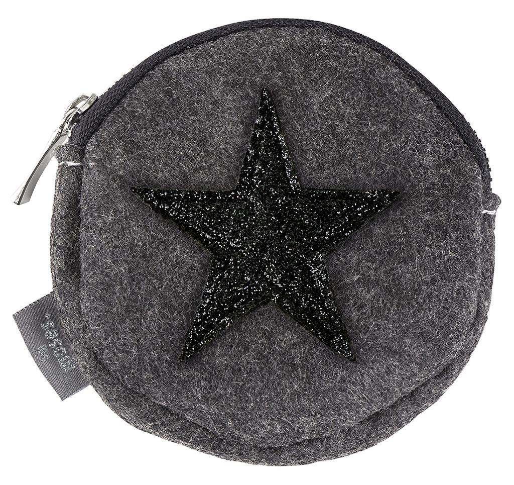 Filz Portemonnaie Stern schwarz