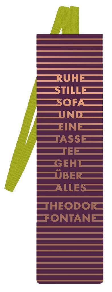 Lesezeichen mit Band Fontane