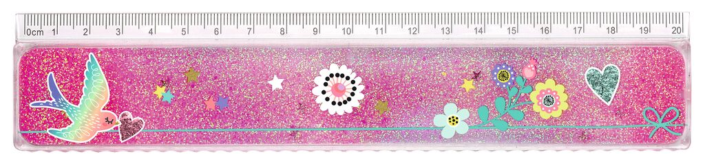 Flowers & Friends Lineal Glitterzauber Blumen
