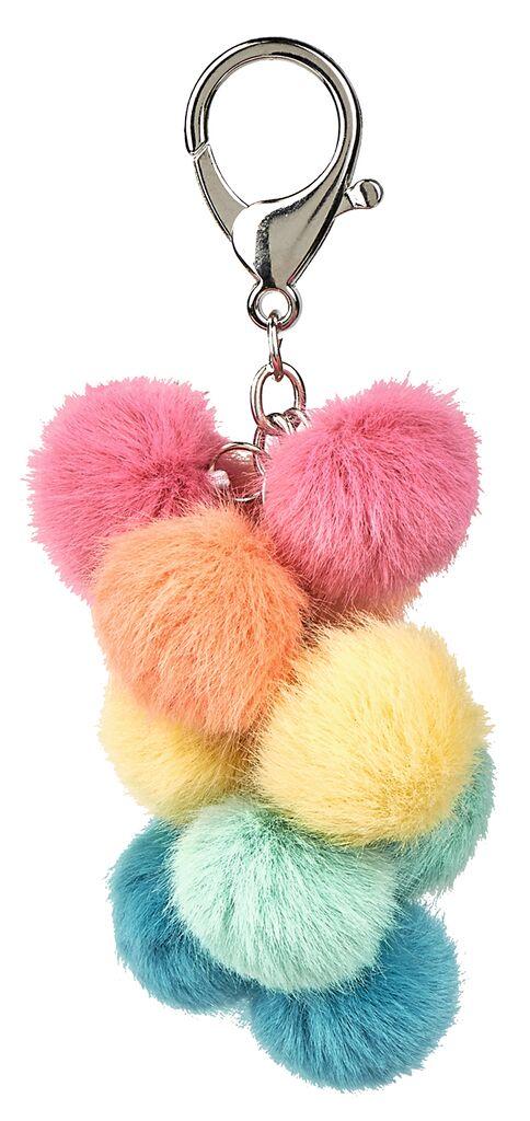 Happy me Pompon-Schlüsselanhänger