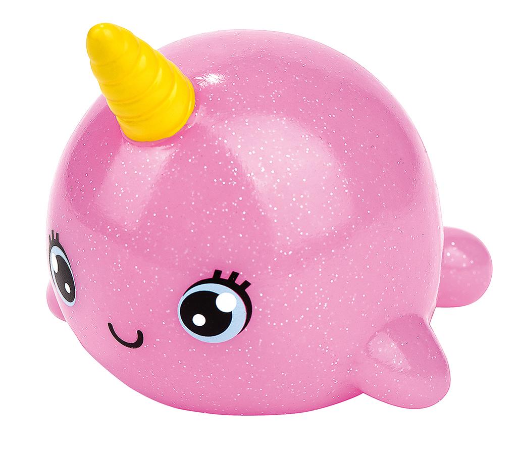 Leuchtender Bade-Narwal pink