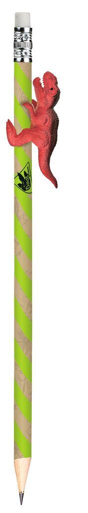 Dino-Bleistift grün