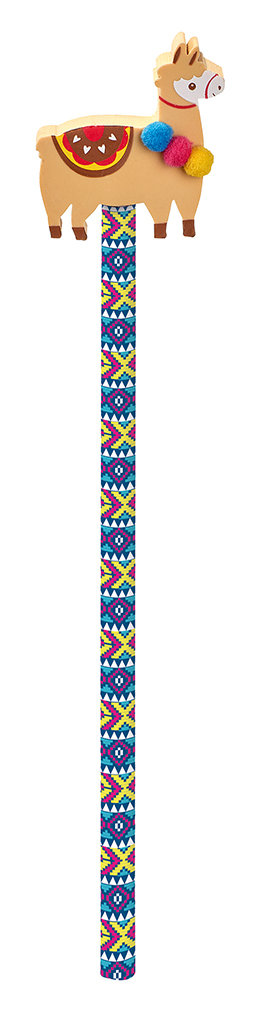 Lama-Bleistift mit Radierer braun