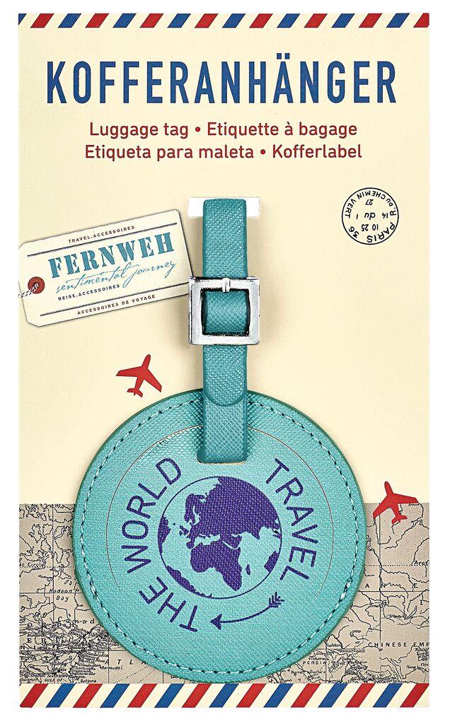 Fernweh Kofferanhänger Travel The World