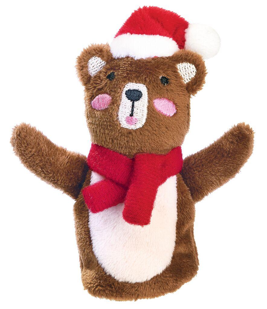 Fingerpüppchen Weihnachtsfreunde Braunbär