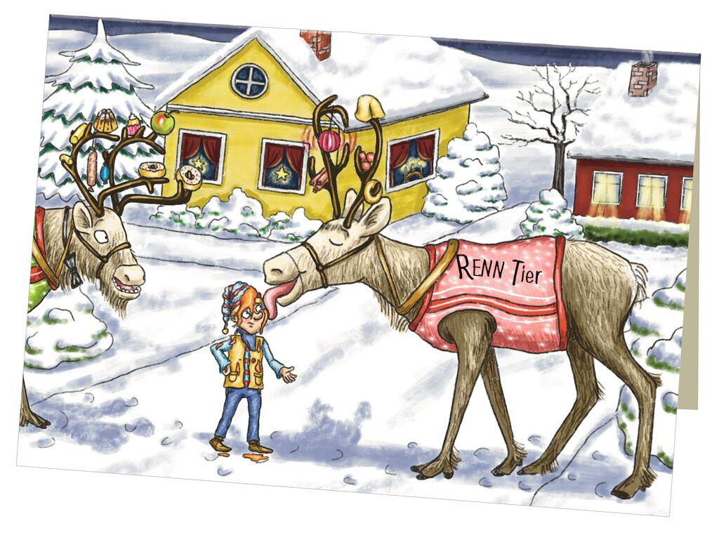 Wichtelige Weihnachten - Eine Weihnachtsgeschichte auf 24 Karten