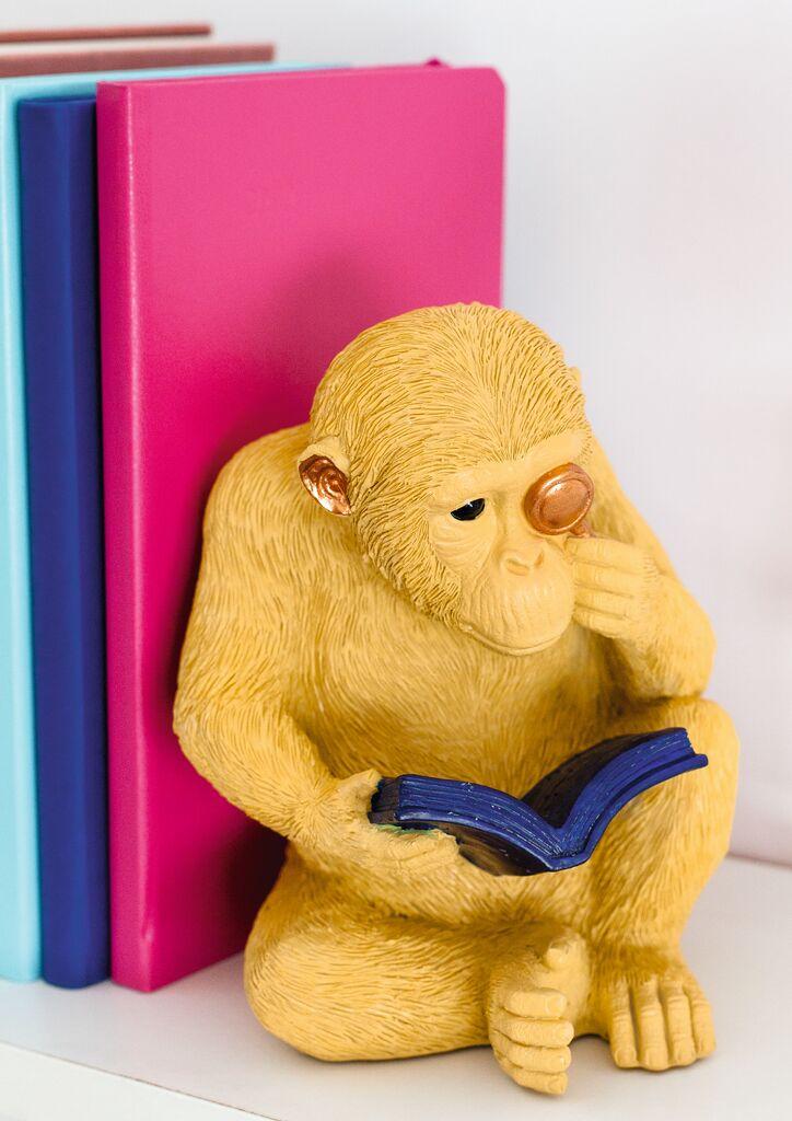 Buchstütze Affe