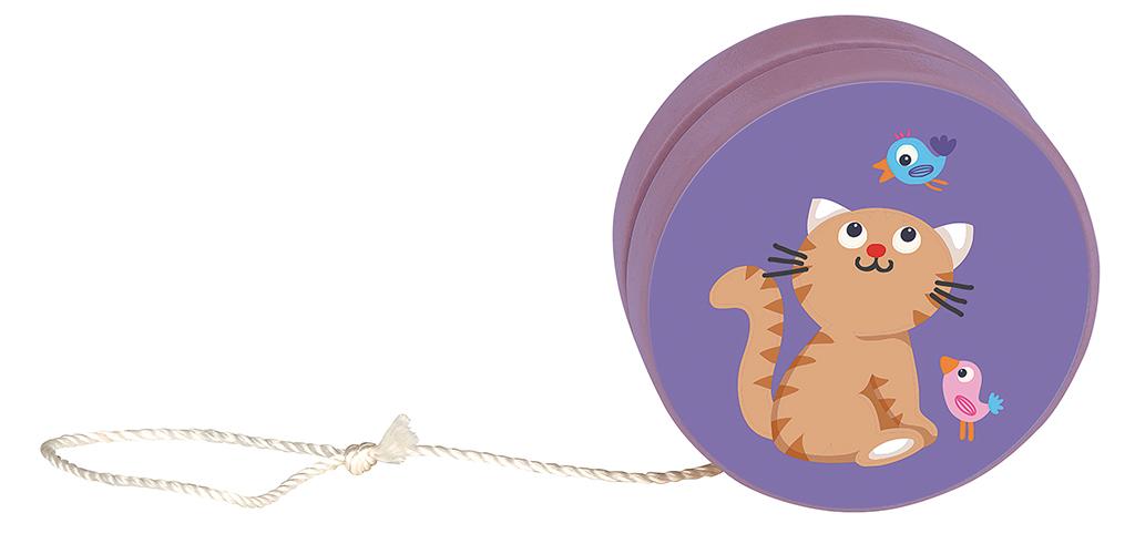 Katzen-Jojo violett