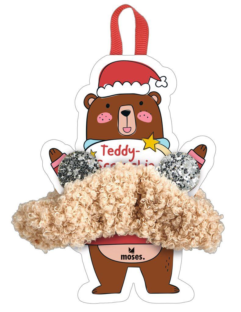 Teddy-Scrunchie Sternenstaub beige