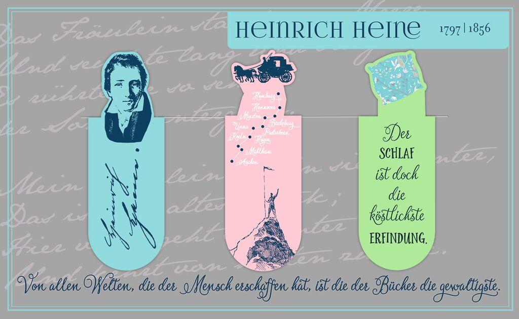 Magnetlesezeichen Heinrich Heine
