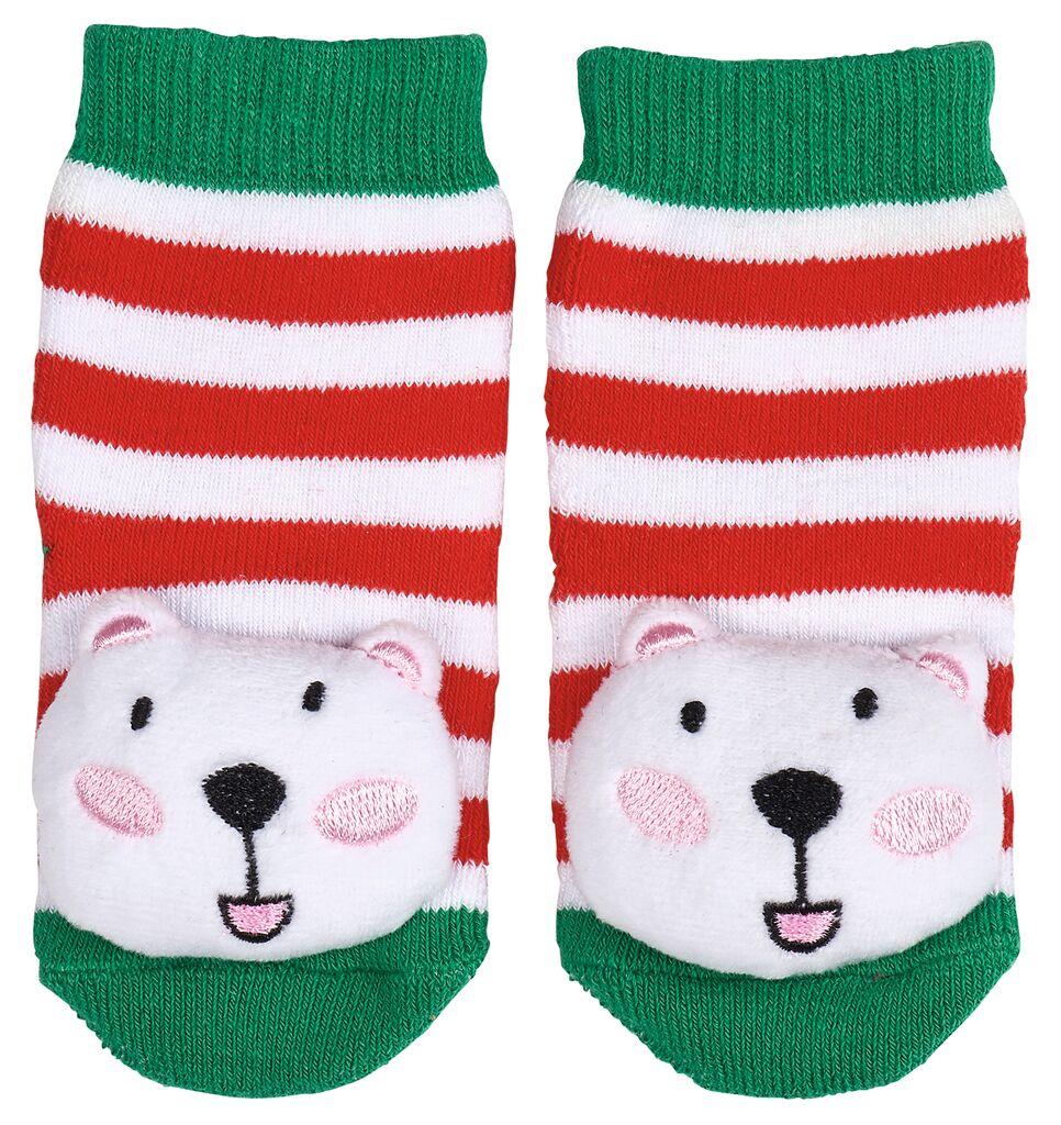 Rasselsöckchen Weihnachtsfreunde Eisbär