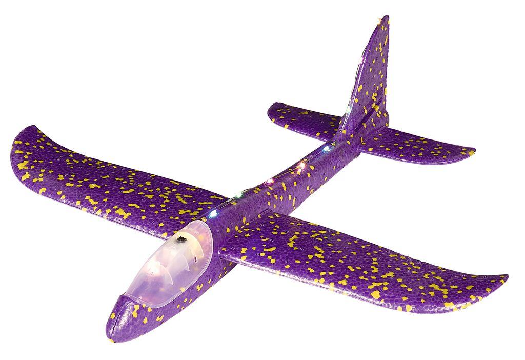 Leuchtender Segelflieger (mit LEDs) violett
