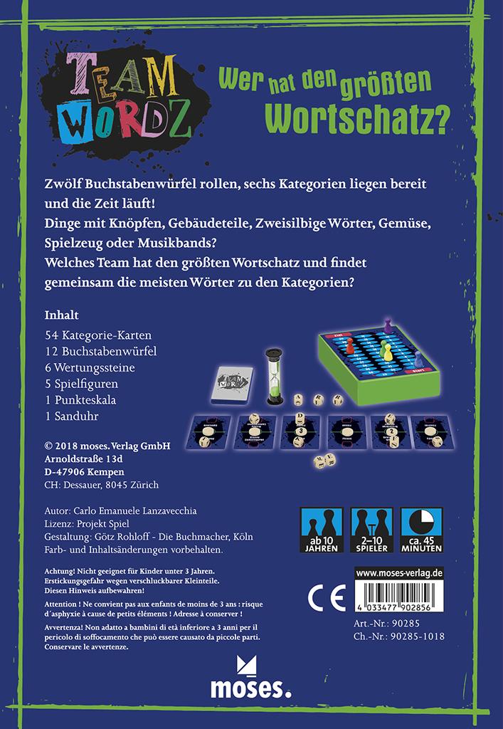 Team Wordz - Das schnelle kommunikative Teamspiel