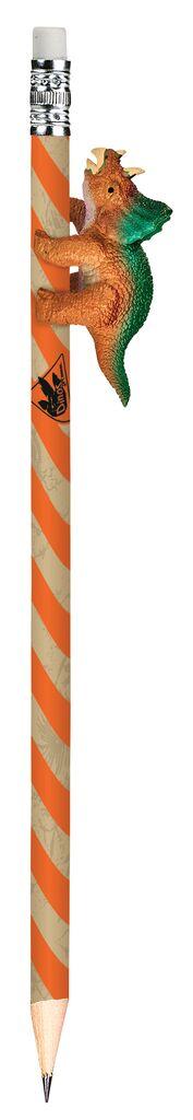 Dino-Bleistift orange