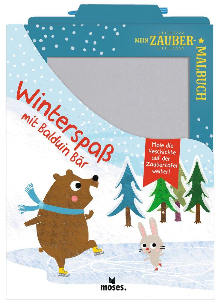 Mein Zaubermalbuch - Winterspaß mit Balduin Bär