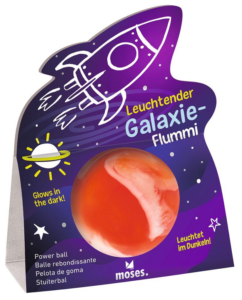 Leuchtender Galaxie-Flummi orange