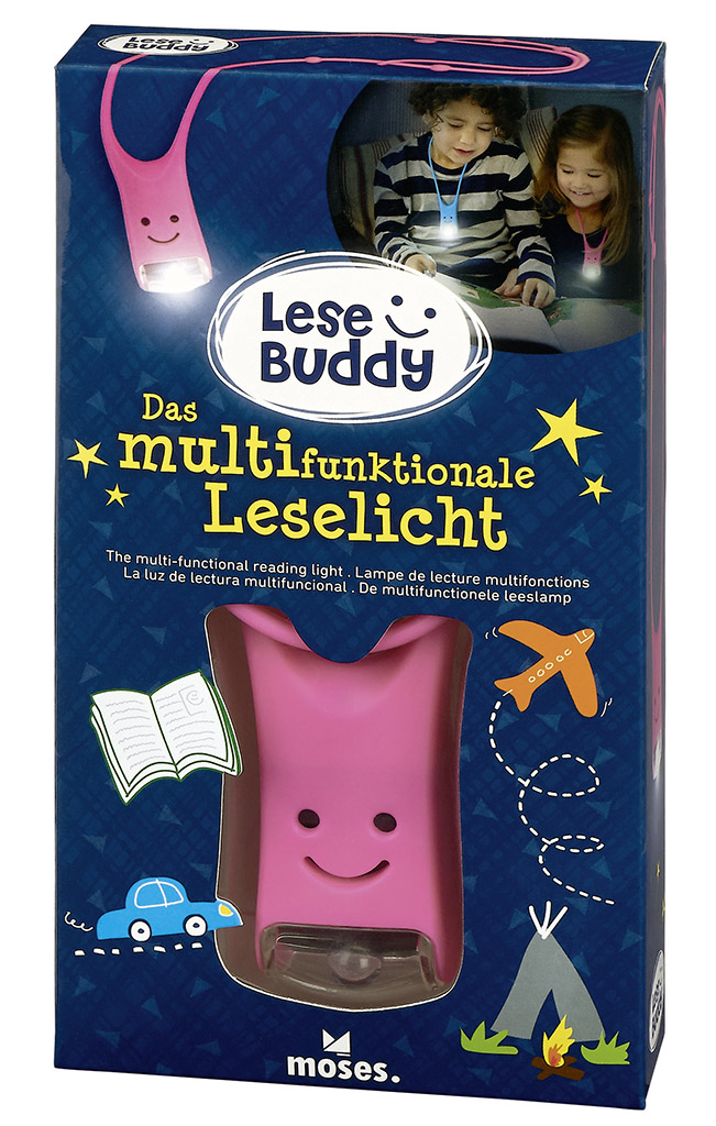 Lese Buddy - Das multifunktionale Leselicht pink
