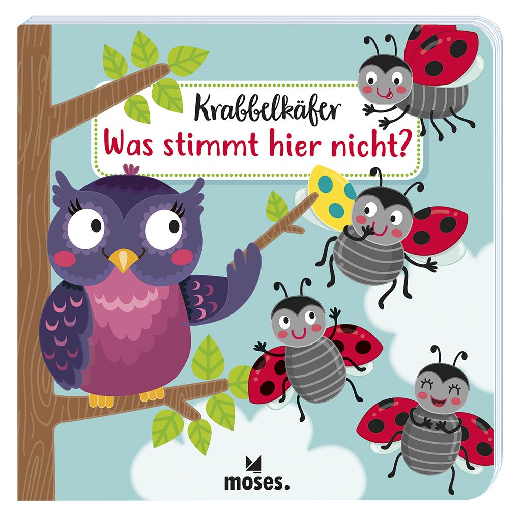 Krabbelkäfer-Bilderbuch: Was stimmt hier nicht?