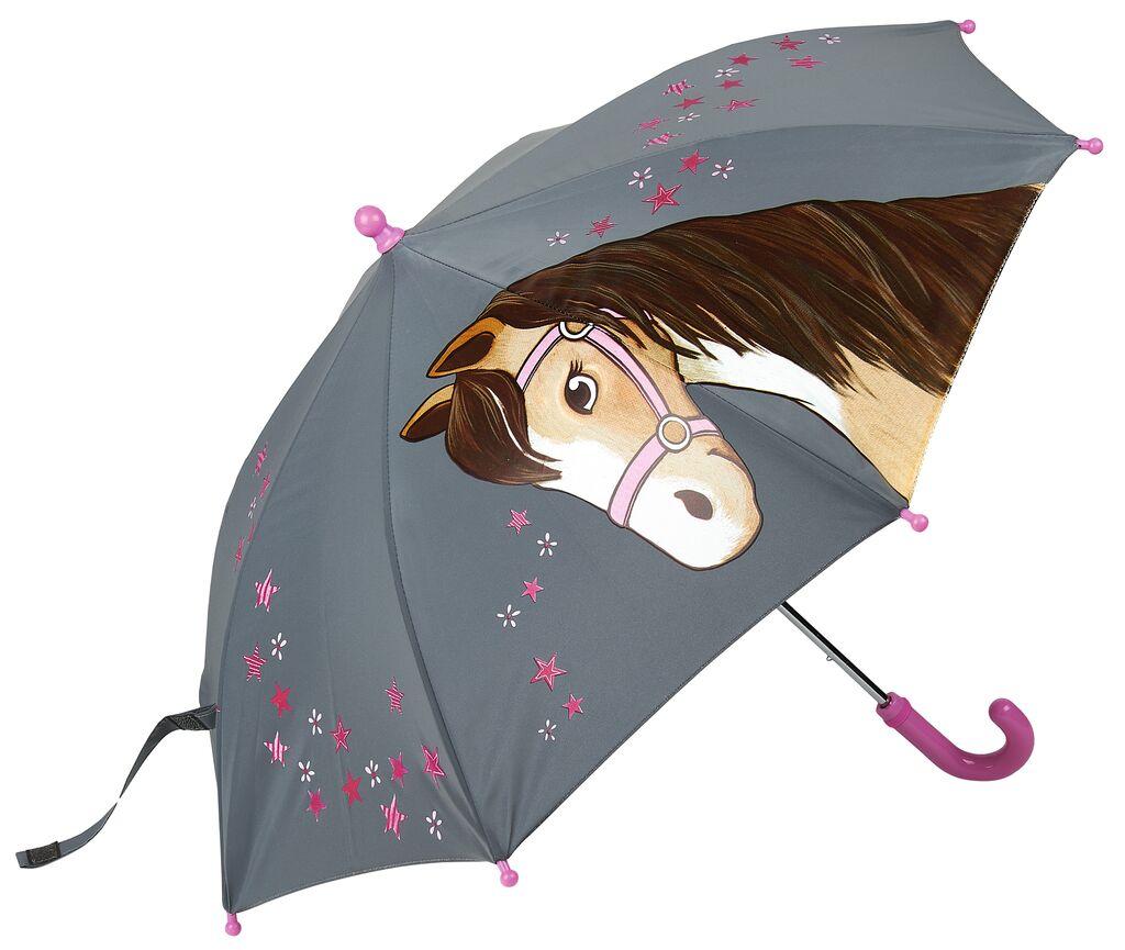 Reflektierender Regenschirm Pferde