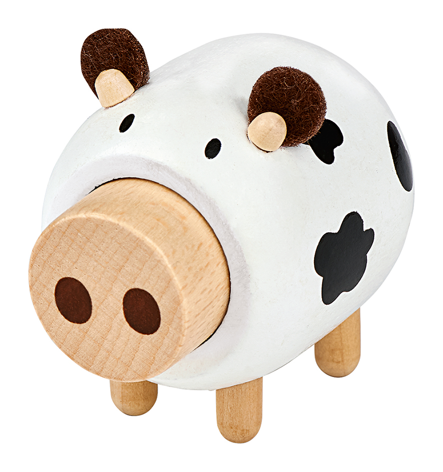 L. Bauernhof-Freund aus Holz mit Sound Kuh