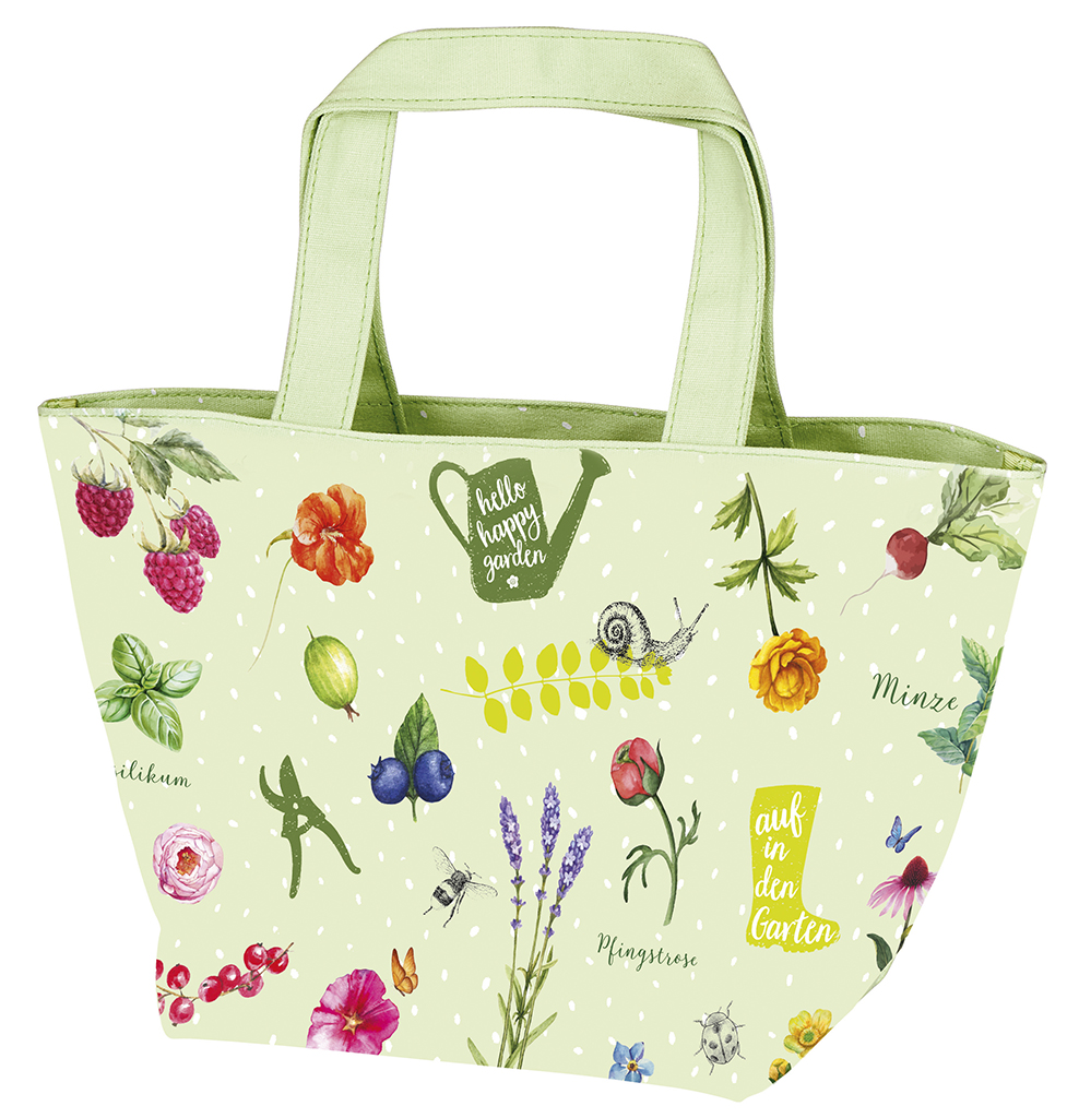 Blatt & Blüte Gartentasche grün