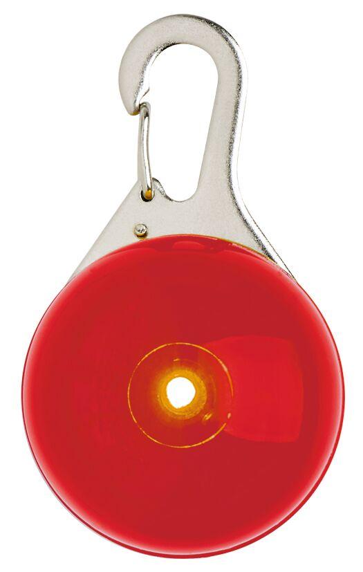 Leuchtender Clip-Anhänger mit LED rot