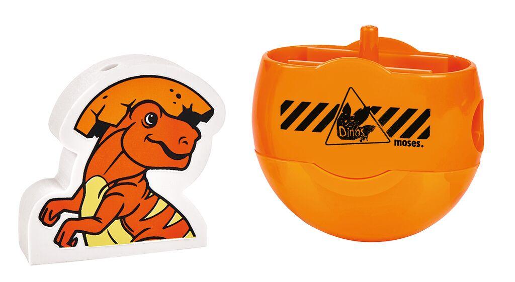 Anspitzer & Radierer schlüpfendes Dino-Baby (versch. Farben)