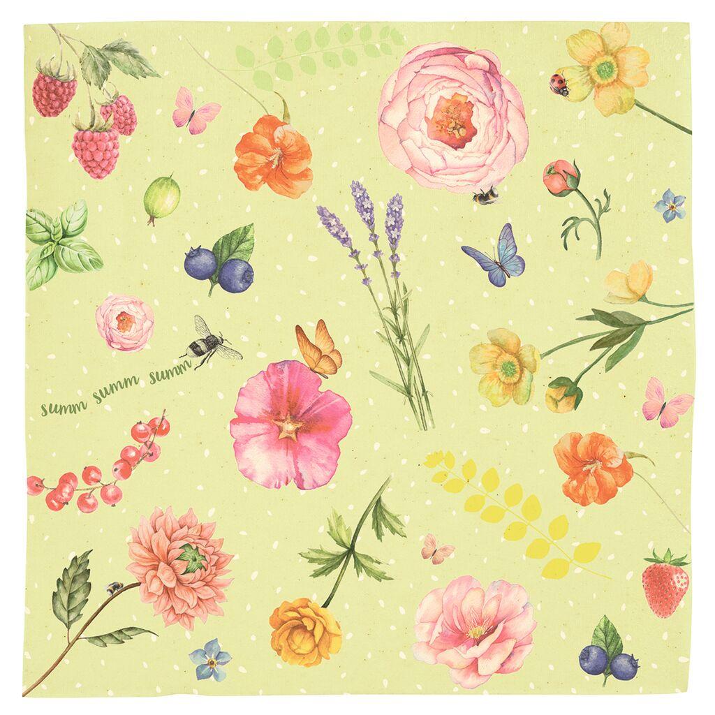 Blatt & Blüte Bienenwachstücher 2er Set