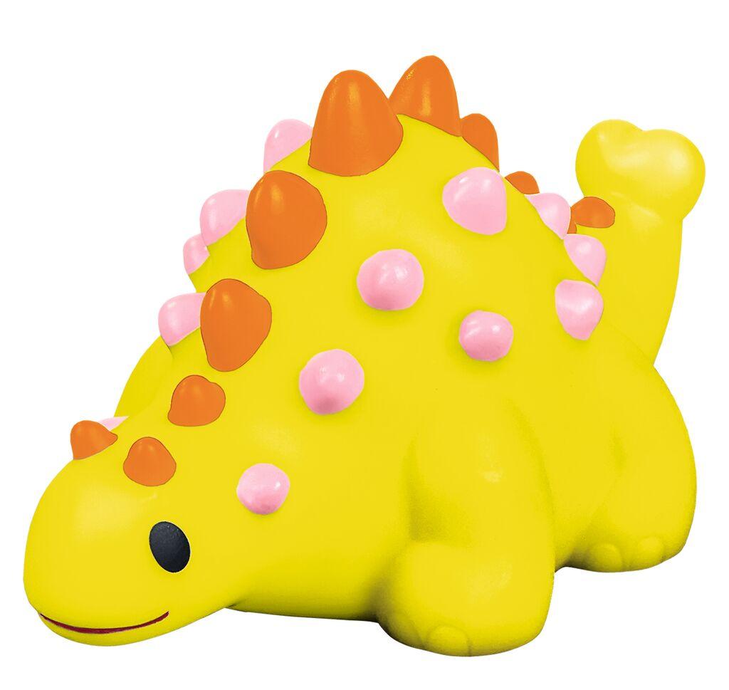 Leuchtender Bade-Dino gelb