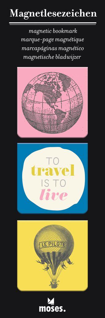 Magnetlesezeichen Travel