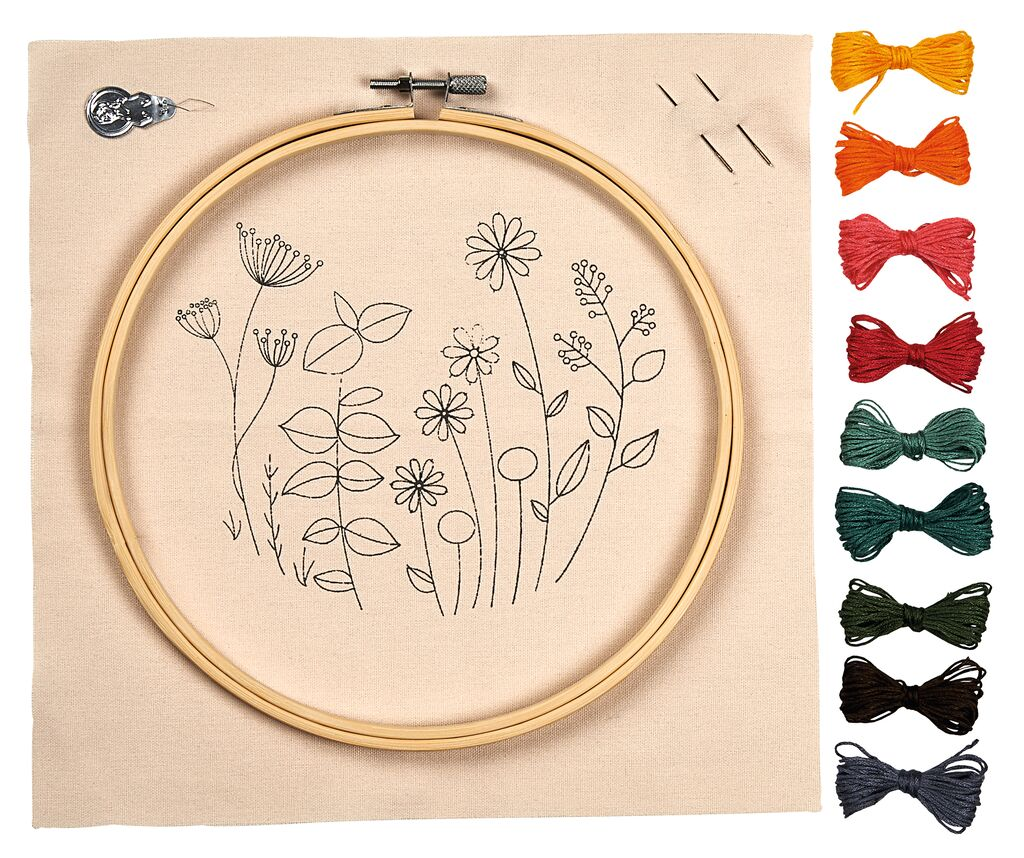 Blatt & Blüte DIY Stickrahmen-Set