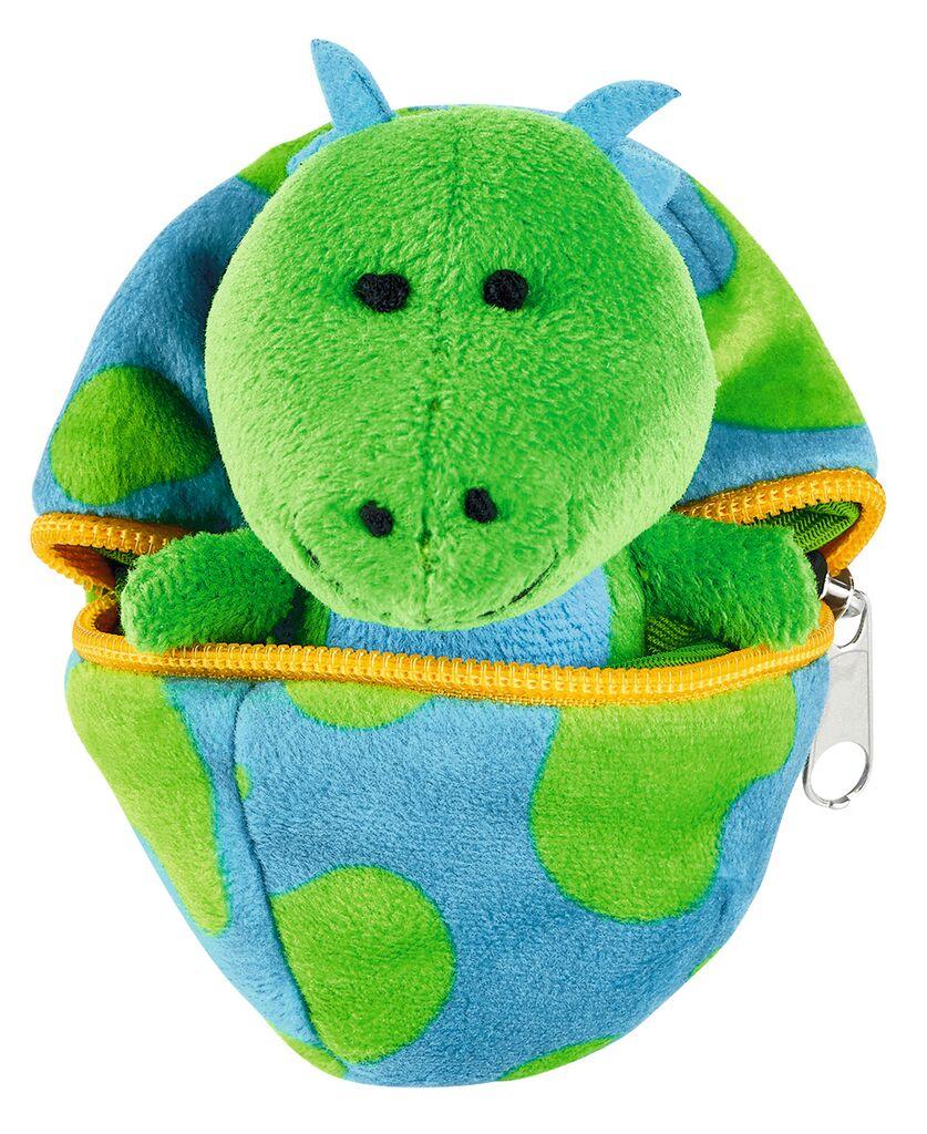 Kuscheliges Dino-Baby im Ei grün