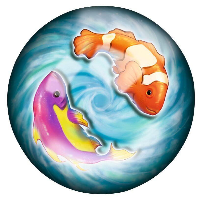 Leuchtender Schlitterball Ozean Fische