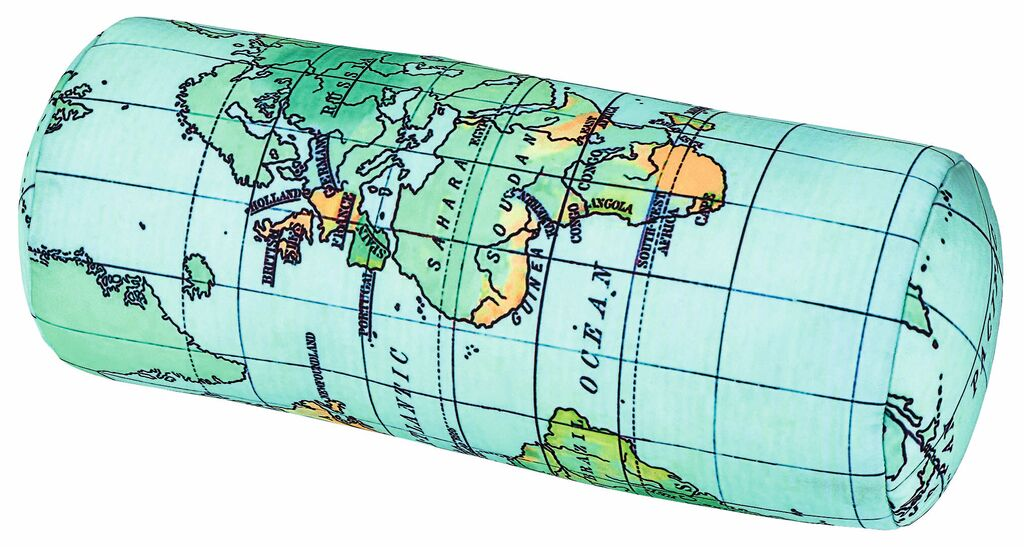 Fernweh 3-in-1 Nackenhörnchen Weltkarte & Streifen