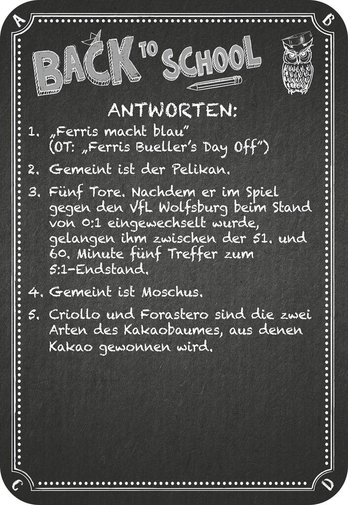Kneipenquiz - Back to School (4. Ergänzungsset)