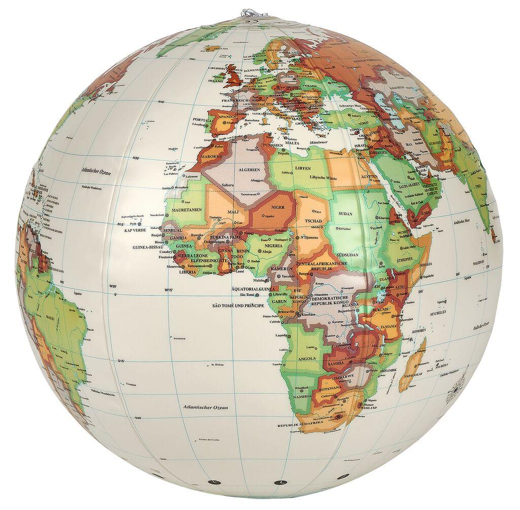 Fernweh Aufblasbarer Globus Retro