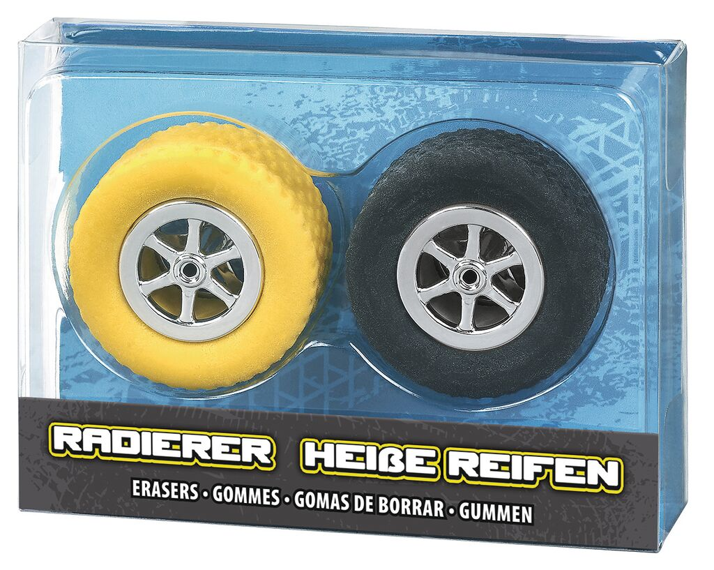 Radiererset Heiße Reifen (versch. Farben)