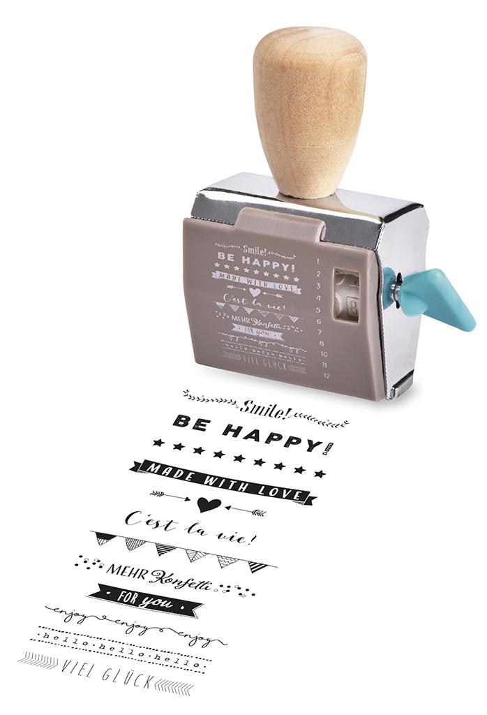 Happy me Drehstempel-Geschenkset