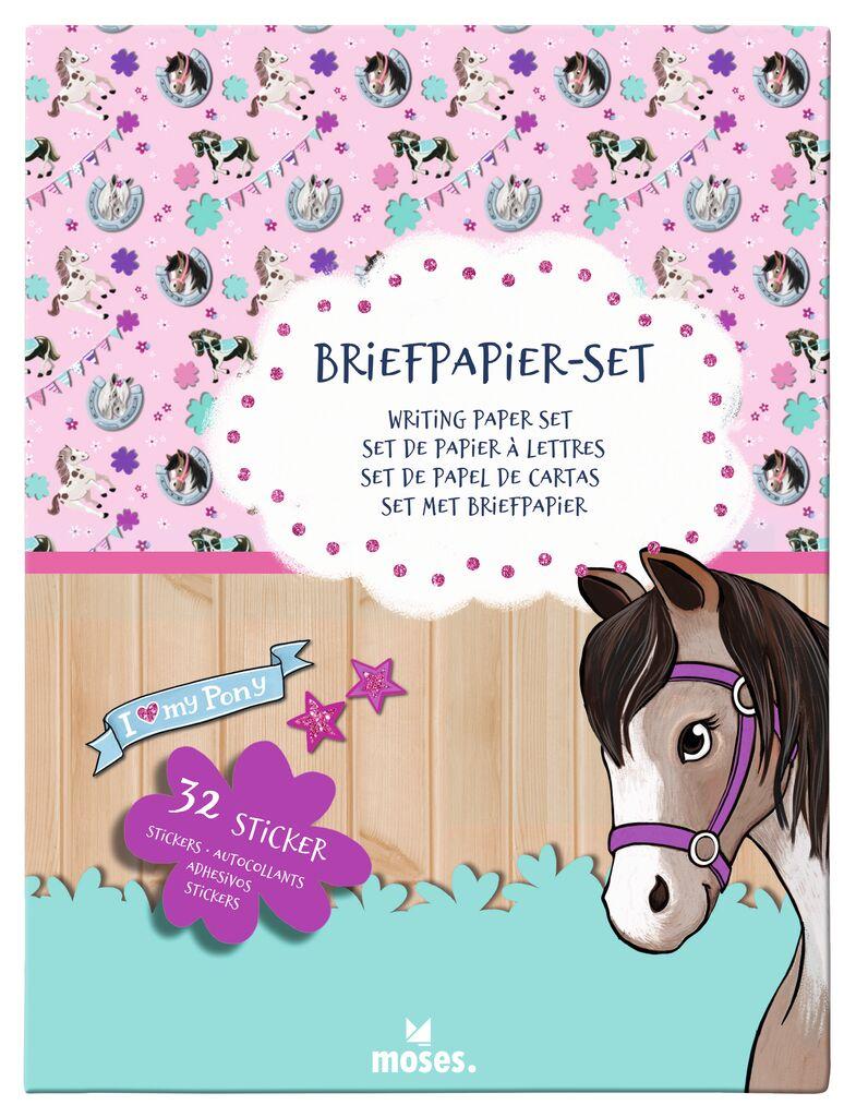 Pferde Briefpapier-Set