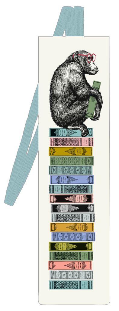 Lesezeichen mit Band BuchAffin