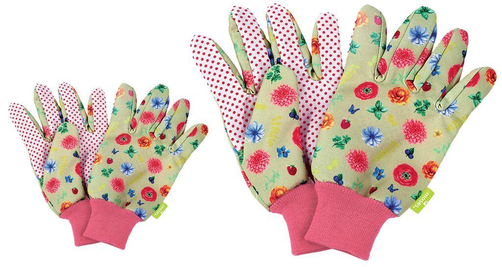 Blatt & Blüte Gartenhandschuhe im Set Erwachsene und Kinder
