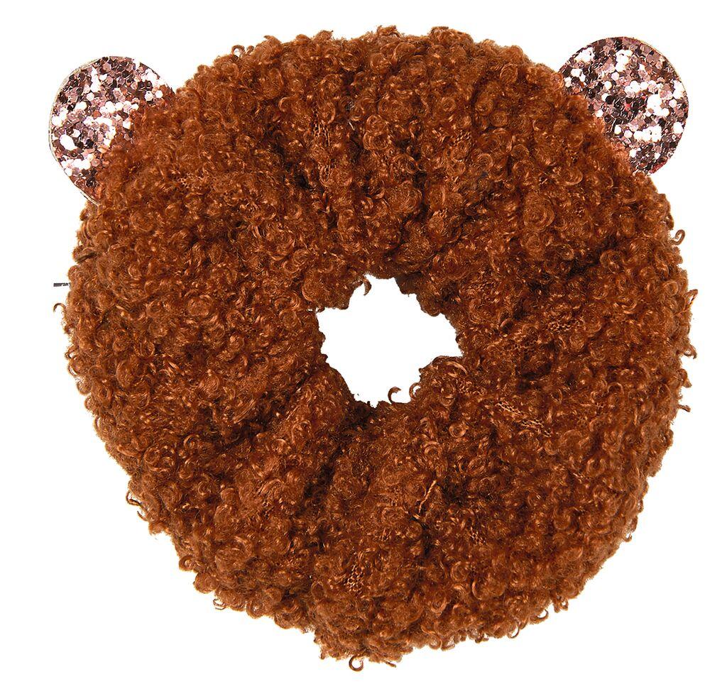 Teddy-Scrunchie Sternenstaub braun