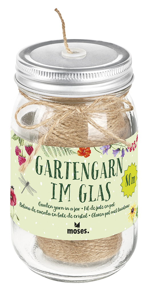 Blatt & Blüte Gartengarn im Glas