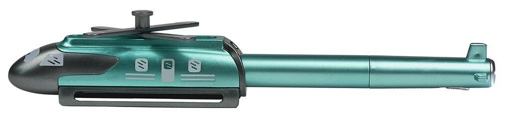 Heli-Kugelschreiber mit LED grün