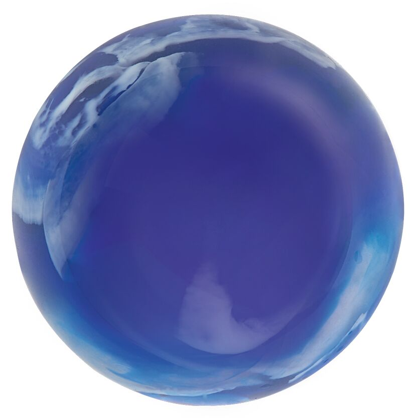 Leuchtender Galaxie-Flummi blau