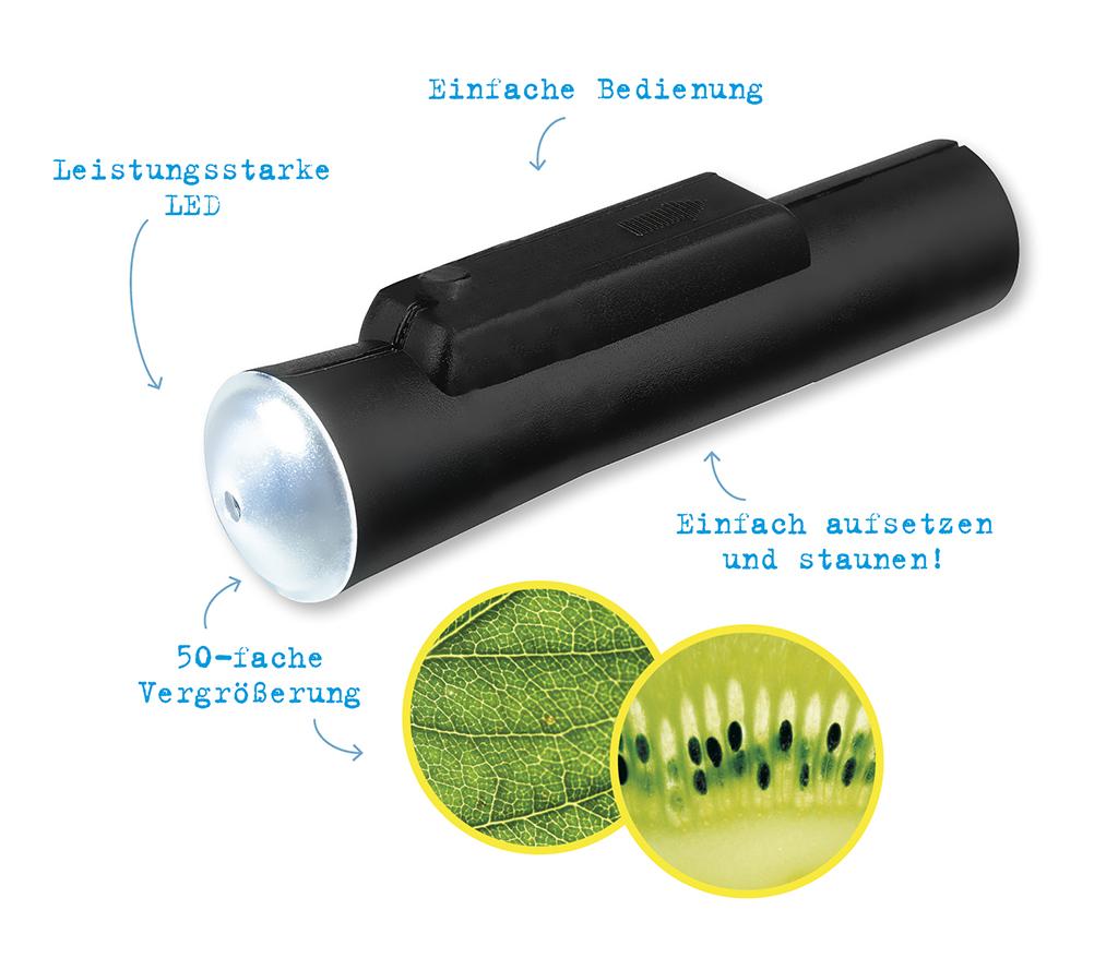 Expedition Natur Ultraleichtes LED-Taschenmikroskop
