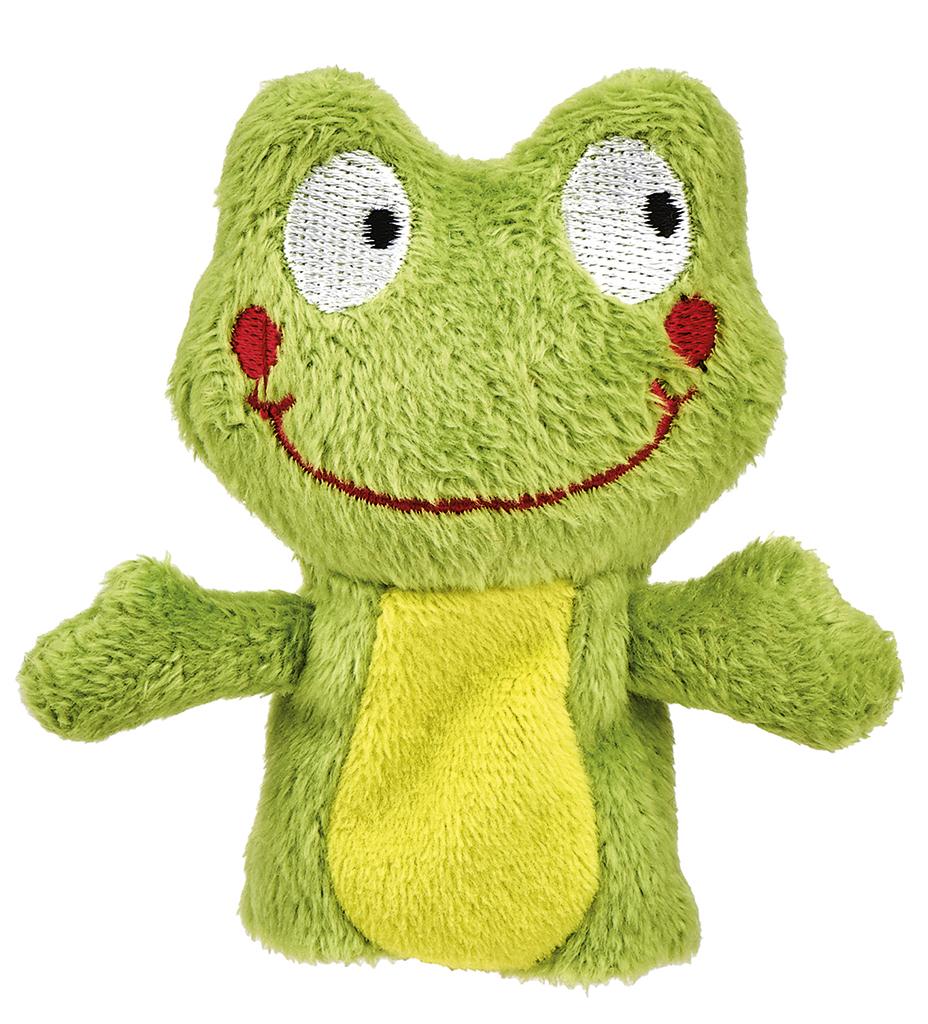 Krabbelkäfer Fingerpüppchen Frosch