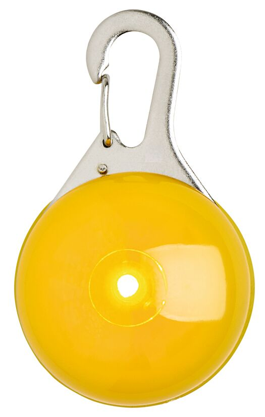 Leuchtender Clip-Anhänger mit LED gelb