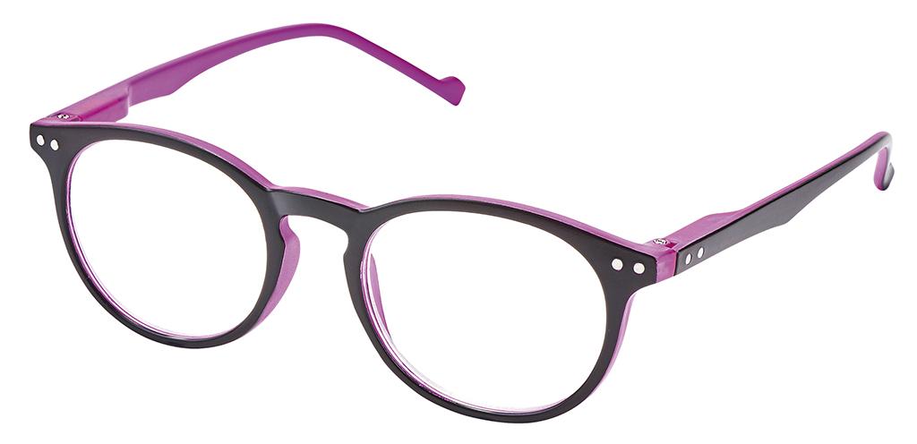 Lesehilfe Bicolor +1.0 pink-schwarz