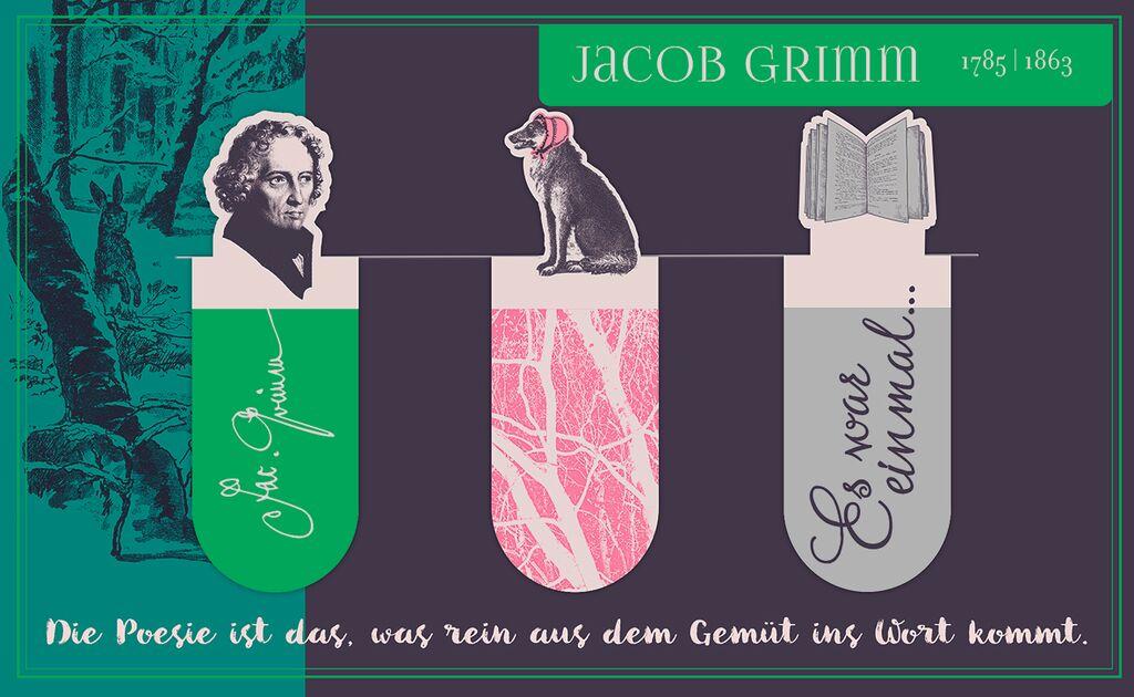 Magnetlesezeichen Jacob Grimm
